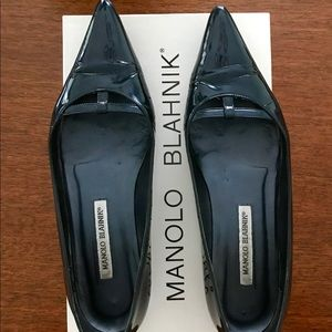 Manolo Blahnik patent leather flat